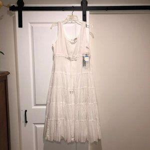 NWT- White Boho maxi-dress size XL
